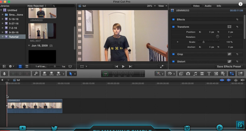 Final Cut Pro X Tutorial: Flying Inside Effect