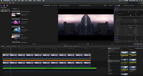 Inception City Bending Effect - Final Cut Pro X