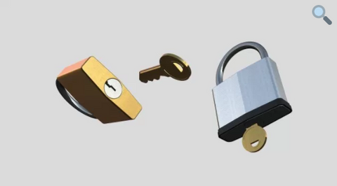 Free Padlock Font for 3D Modeling in Motion
