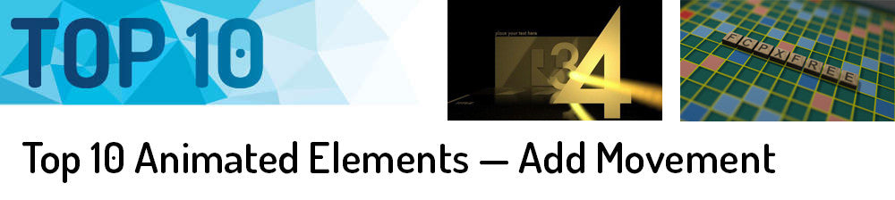 Top 10 Animated Elements