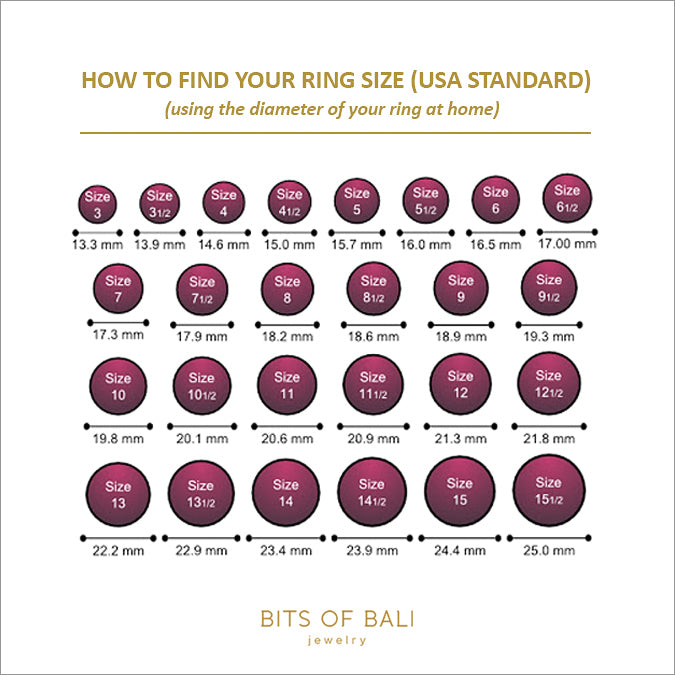how to find your ring size with the diameter of ring pakai diameter cincin yang ada