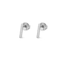 ARUNA BAR EARRINGS SILVER 10 MM