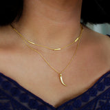 ARUNA CLAW NECKLACE ARUNA BAR NECKLACE