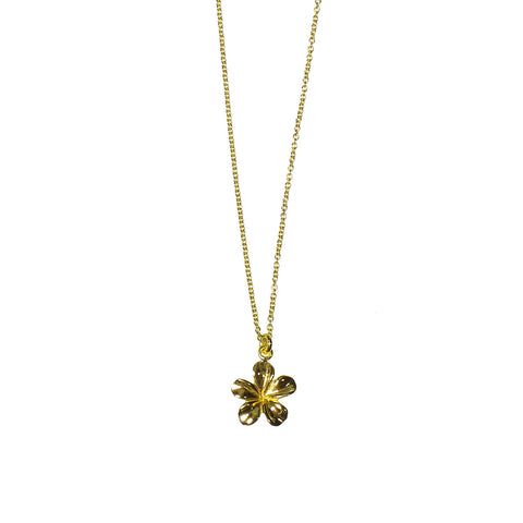 ARUNA TINY FLOWER PENDANT LAYERED SILVER GOLD PLATED NECKLACE