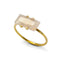 ARYA DOME ROSE QUARTZ RING - GOLD