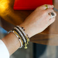 NALA BANGLE BRACELET - SMOKEY QUARTZ