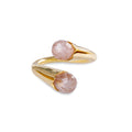 BLOOMING RING RING - ROSE QUARTZ - GOLD