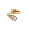 BLOOMING RING RING - WHITE TOPAZ - GOLD