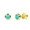 DIPTA SINGLE BUBBLE EARRINGS -TURQUOISE