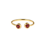 DIPTA TINY DOUBLE BUBBLE RING - GARNET
