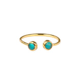 DIPTA TINY DOUBLE BUBBLE RING - TURQUOISE