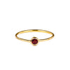 DIPTA TINY SINGLE BUBBLE RING - GARNET