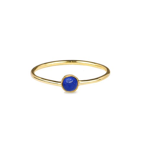 DIPTA TINY SINGLE BUBBLE RING - LAPIS LAZULI - GOLD