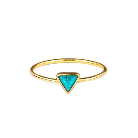 SANDI TRIANGLE RING - TURQUOISE
