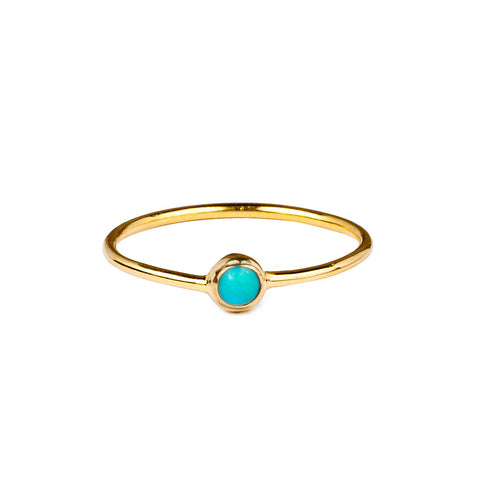 DIPTA TINY SINGLE BUBBLE RING - TURQUOISE