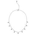 DIPTA 9 STONE BLACK SPINEL NECKLACE