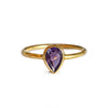 DIPTA AMETHYST TEAR DROP RING