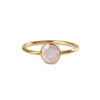 DIPTA MEDIUM BUBBLE RING - ROSE QUARTZ - GOLD