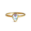 DIPTA RAINBOW MOONSTONE RING - SOLID 18K GOLD