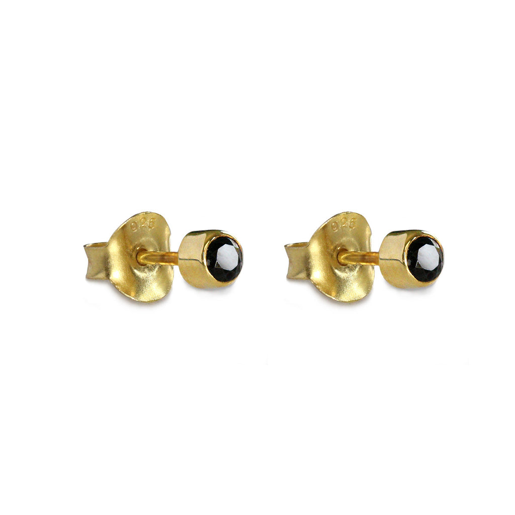 DIPTA SINGLE BUBBLE EARRING - BLACK SPINEL