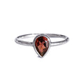 DIPTA GARNET TOPAZ TEAR DROP RING