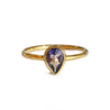 DIPTA IOLITE TOPAZ TEAR DROP RING - GOLD