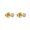 DIPTA SINGLE BUBBLE EARRINGS - WHITE CZ