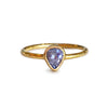 DIPTA TANZANITE TEAR DROP RING - GOLD