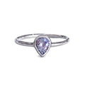 DIPTA TANZANITE TEAR DROP RING