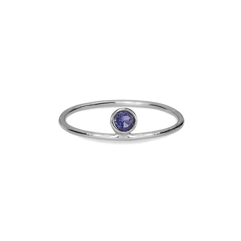 DIPTA TINY RING - IOLITE - SILVER