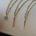 ESSENTIAL NEEDLE LARGE CABLE NECKLACE