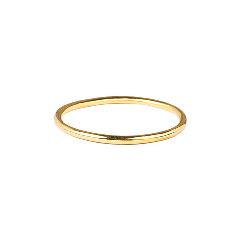 GIRI THIN PLAIN STACKED RING - GOLD