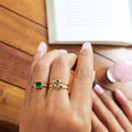 GITA SINGLE BAGUETTE RING - GREEN QUARTZ