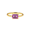 GITA SINGLE BAGUETTE RING - PINK TOPAZ