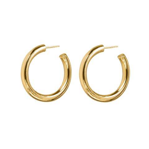 GIRI PLAIN BOLD HOOP EARRINGS