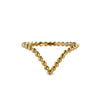 GIRI CHEVRON DOTTED RING - SOLID 18K GOLD
