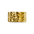 GIRI UNISEX HAMMERED BOLD RING - GOLD