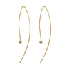 GIRI NEEDLE EARRINGS with CZ