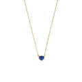 LALITA TINY CIRCLE NECKLACE - LAPIS LAZULI