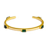 NALA BANGLE BRACELET - GREEN QUARTZ