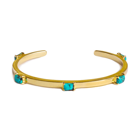 NALA BANGLE BRACELET - TURQUOISE