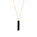 NALA LONG BAR NECKLACE - BLACK ONYX