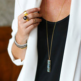 NALA LONG BAR NECKLACE - LABRADORITE