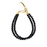 NIRMALA DOUBLE STRING BRACELET WITH CLAW - BLACK ONYX
