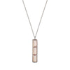 NALA LONG BAR NECKLACE - ROSE QUARTZ