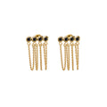 PANCA EARRINGS BLACK SPINEL GOLD
