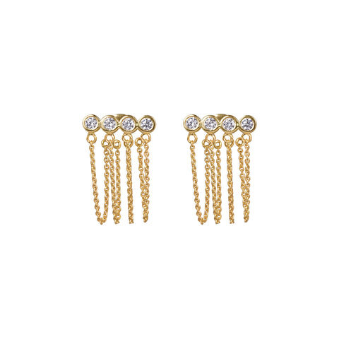 PANCA WHITE CZ EARRINGS