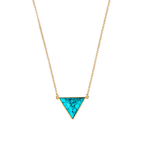 SANDI LARGE TRIANGLE NECKLACE - TURQUOISE