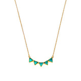 SANDI FIVE TRIANGLE NECKLACE - TURQUOISE