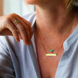 SANDI SMALL SOLO TRIANGLE NECKLACE - TURQUOISE